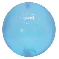 LUDI Piłka sensoryczna - niebieska z kuleczkami