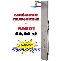 GWARANCJA NAJNIŻSZEJ CENY!   Świecący panel prysznicowy z hydromasażem Neo z mieszaczem wersja polerowana, S-060LED_M   PROMOCJA! 80,00 zł rabatu przy zamówieniu telefonicznym