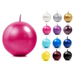 Świeca kula metalizowana fi60 x 10szt / różne kolory