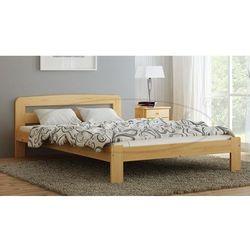 Łóżko drewniane Sara 140x200 z materacem piankowym