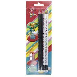 Easy, ołówki, 4 szt, zestaw z temperówką Darmowa dostawa do sklepów SMYK