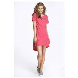 Sukienka z łezką na dekolcie i dłuższym tyłem - fuksja - AL29