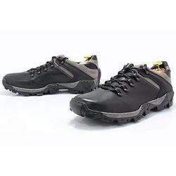 KENT 116 CZARNO-SZARE - Trekkingowe buty męskie 100% skórzane