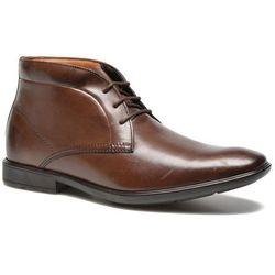 Buty sznurowane Clarks Gosworth Hi Męskie Brązowe Dostawa 2 do 3 dni