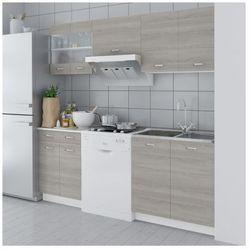 Zestaw dębowych szafek kuchennych 5 szt. + zlewozmywak 80 x 60 cm Zapisz się do naszego Newslettera i odbierz voucher 20 PLN na zakupy w VidaXL!
