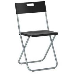 Gunde Krzesło składane czarne