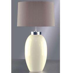 Stojąca LAMPA stołowa LUI/VICTOR SM CR+LUI/LS1031 Elstead ceramiczna LAMPKA abażurowa kremowy brązowy
