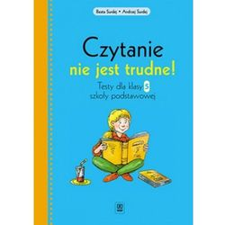 Czytanie nie jest trudne! Klasa 5, szkoła podstawowa. Język polski. Testy (opr. miękka)