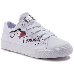 fba5bd29cbd1a Trampki TOMMY HILFIGER - Low Cut Lace-Up Sneaker White M T3A4-30260-