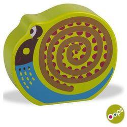 OOPS Drewniany klocek z dźwiękiem, grzechotka - Ślimak