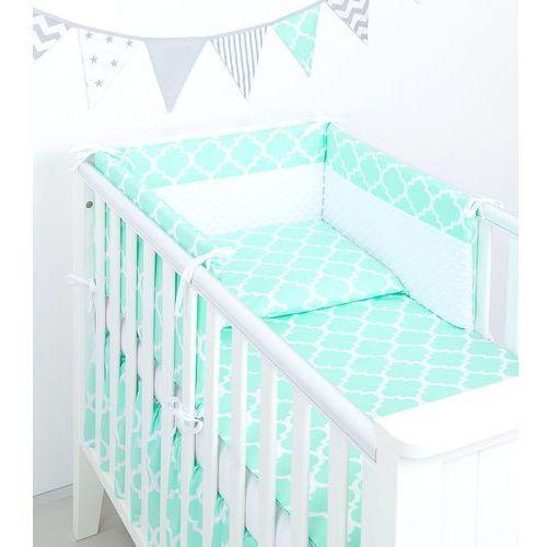 Mamo Tato 3 El Pościel Do łóżeczka Minky Maroko Miętowe Biały