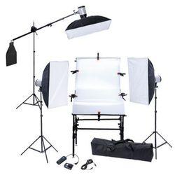 Zestaw studio: stół, 3 softboksy, 3 statywy i 3 głowice lampy Zapisz się do naszego Newslettera i odbierz voucher 20 PLN na zakupy w VidaXL!