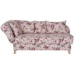 ENNIS jasna sofa w kwiaty - wielokolorowe
