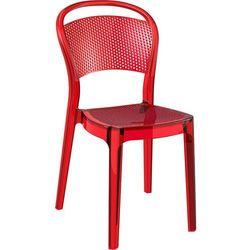 Krzesło designerskie do jadalni Macrolon Bayer AG Siesta Bee czerwone transparente