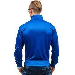 Niebieska bluza męska bez kaptura z nadrukiem Denley K561 - NIEBIESKI