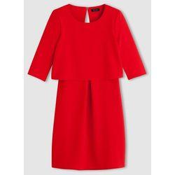Sukienka 2 w 1 z dzianiny teksturowanej