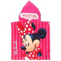 Ponczo, ręcznik kąpielowy Myszka Minnie 50x100 różowe