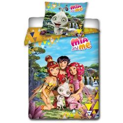 Dziecięca pościel bawełniana Mia and Me – Friends, 140 x 200 cm, 70 x 80 cm
