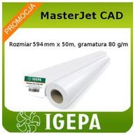 Papier do plotera 594x50 Igepa MasterJet 80g/m2, rolka do plotera klasy Premium