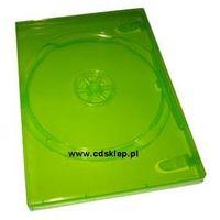 Etui plastikowe na 1DVD 14mm zielone X-BOX