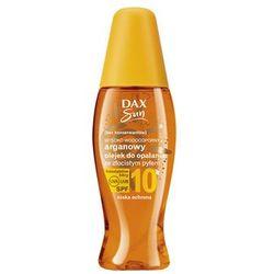 Dax Sun Arganowy olejek do opalania z beta-karotenem SPF 10, spray NISKA OCHRONA