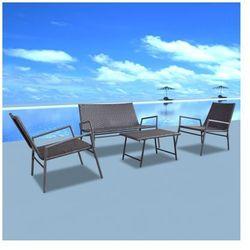Polirattanowy zestaw ogrodowy krzesła i stolik 4 szt. brązowy Zapisz się do naszego Newslettera i odbierz voucher 20 PLN na zakupy w VidaXL!