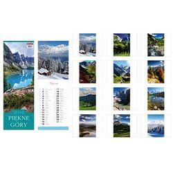 Kalendarz 2016 13 planszowy paskowy Piękne góry