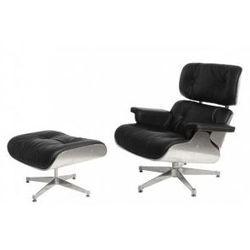 Fotel Vip inspirowany Lounge Chair z podnóżkiem Aluminium