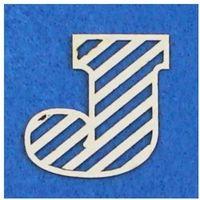 J - tekturka literka ażurowa prosta (3 szt)