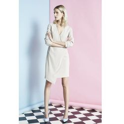 Sukienka asymetryczna z suwakiem gs