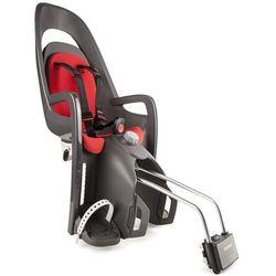 Fotelik rowerowy Caress szaro-ciemnoszary, czerwona wyściółka