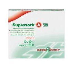 Suprasorb® A+Ag - 10cm x 10cm - 1 sztuka - przeciwbakteryjny opatrunek z alginianu wapnia i srebrem