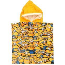 Ponczo, ręcznik kąpielowy Minionki poncho 50x100 głowy