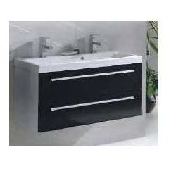 ELITA Kwadro Black szafka + umywalka 100 z dwoma otworami 163027.22052011