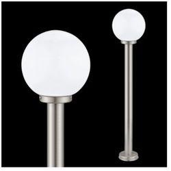 Zewnętrzna LAMPA stojąca NISIA 30207 Eglo metalowa OPRAWA ogrodowa IP44 outdoor kula ball biały