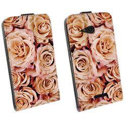 Flip Fantastic - Sony Xperia E4g - kabura - róże