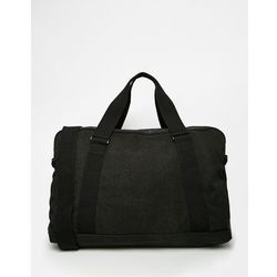 ASOS Holdall In Black Canvas - Blue