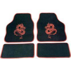 Zestaw wykładzin/dywaników tekstylnych zdobionych cartrend 1400-02 Mystery, czerwone