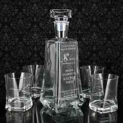 Elegancki 5-el. zestaw do whisky z opcją grawerowania dedykacji