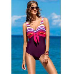 e4280b1f5c30fd Jednoczęściowy strój kąpielowy Kostium Kąpielowy Model Bali II Bordo - Ewlon
