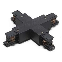 Łącznik X dla 3-fazowych szyn, czarny