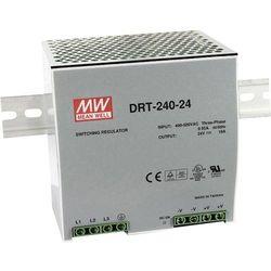 Zasilacz na szynę DIN Mean Well DRT-240-24, 24 V/DC, 10 A, 240 W, 1 x