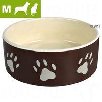 Trixie Miska ceramiczna brązowa w beżowe łapki 0,8L/16cm [TX-24532]