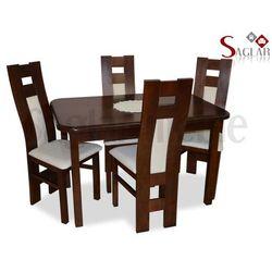 Zestaw AMAZONKA III 4 krzesła i stół 80x120/150