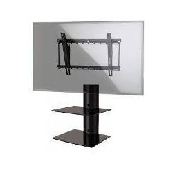 Zestaw D-50+WM2L - Panel z 2 półkami oraz uchwyt do TV, wys. 53,5 cm, czarny, do 20kg