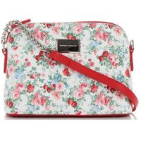 3f67b3e00fcff Włoskie Torebki Damskie Modne Listonoszki we wzór kwiatów marki Diana&Co  Multikolor Czerwone (kolory)