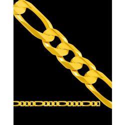 45cm łańcuszek złoty figaro