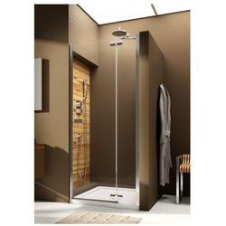 AQUAFORM VERRA LINE Drzwi wnękowe 100 prawe, profile chrom, szkło transparentne + DP Active 103-09406