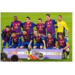 Fototapeta BARCELONA - 15 stycznia 2012: Zespół FC Barcelona oferuje Klubowe Mistrzostwa Świata (L) i FIFA World Player w