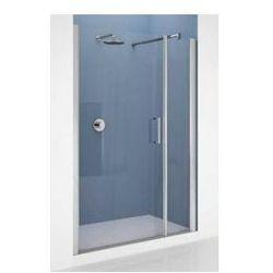 Drzwi Novellini Giada G+F 156-162 cm do wnęki z elementem stałym, lewe, profil srebrny, szkło przeźroczyste GIADNGF156S-1B